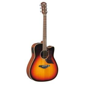 Yamaha Yamaha A1MVS Folk Cutaway Acoustic Electric Guitar Mahogany Vintage Sunburst