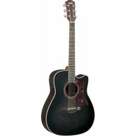 Yamaha Yamaha A3RTBLHC Folk Cutaway Acoustic Electric Rosewood w/ Case; Trans Black