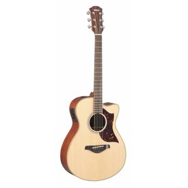 Yamaha Yamaha AC1M Small Body Cutaway Acoustic Electric Guitar Mahogany