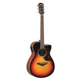 Yamaha Yamaha AC1MVSHC Small Body Cutaway A/E Mahogany Vintage Sunburst Guitar w/ Case