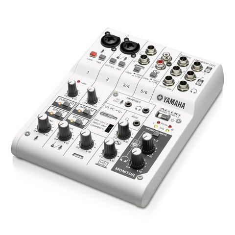 Yamaha AG06 6-Channel, Mixer/Sub Interface for iOS/Mac/Pc