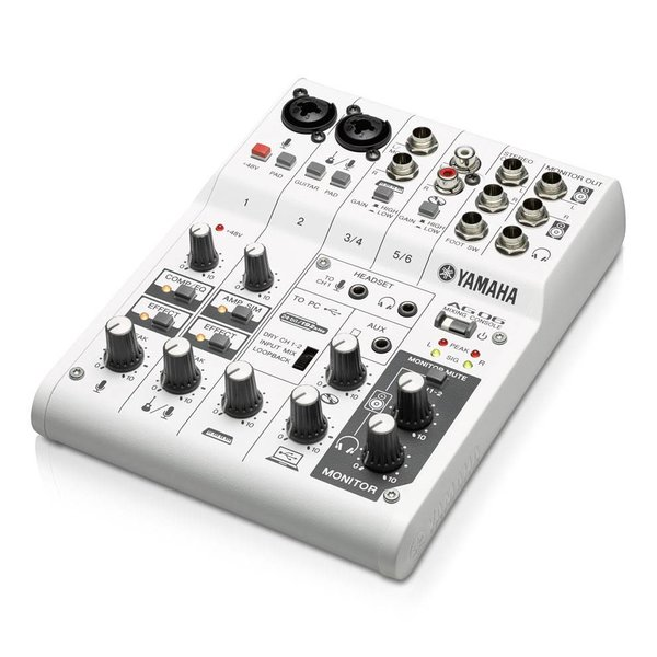 Yamaha Yamaha AG06 6-Channel, Mixer/Sub Interface for iOS/Mac/Pc