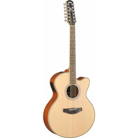 Yamaha CPX700II-12 12-String Natural Med-Jumbo Acoustic Electric Cutaway