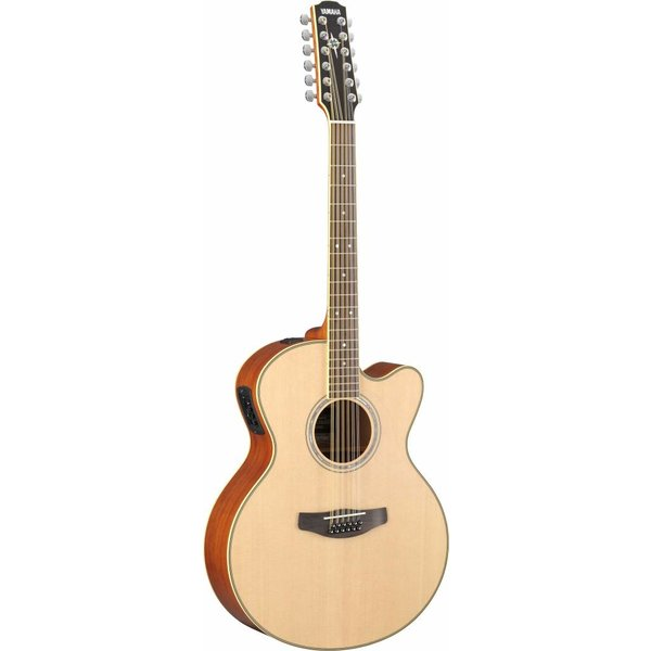 Yamaha Yamaha CPX700II-12 12-String Natural Med-Jumbo Acoustic Electric Cutaway