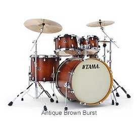 TAMA Tama VP52KRSABR Silverstar Drum Kit Antique Brown Burst