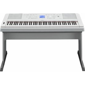 Yamaha Yamaha DGX660WH 88-Key, White Portable Grand. Includes PA150 Power Adapter and Sustain Pedal