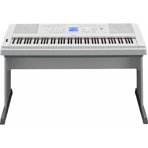 Yamaha DGX660WH 88-Key White Portable Grand w FREE Bench, Power Adapt & Sustain Pedal