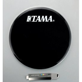 "TAMA Tama BK22BMWS 22"" Black Bass Drum Front Head"