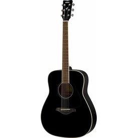 Yamaha Yamaha FG820 BL Black Folk Guitar Solid Top Mahogany Back & Sides