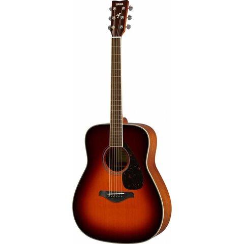 Yamaha FG820 BS Brown Sunburst Folk Guitar Solid Top Mahogany Back & Sides