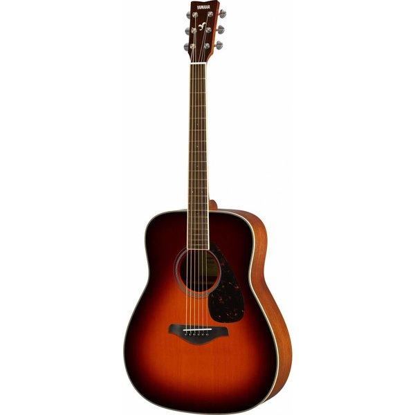 Yamaha Yamaha FG820 BS Brown Sunburst Folk Guitar Solid Top Mahogany Back & Sides