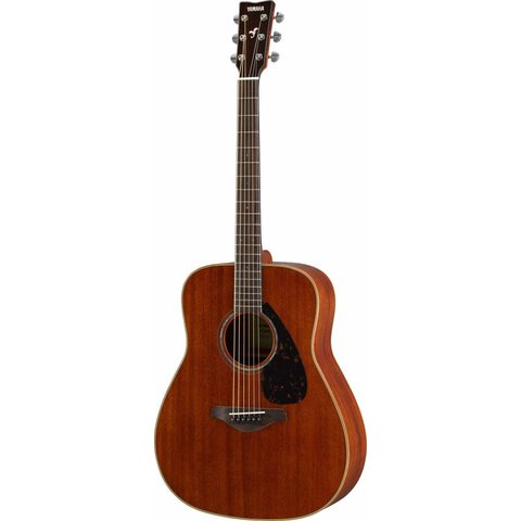 Yamaha FG850 Natural Folk Guitar Mahogany w/ Solid Mahogany Top