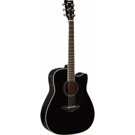 Yamaha Yamaha FGX820C BL Black Folk Acoustic Electric Solid Top Mahogany Back & Sides