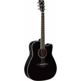 Yamaha Yamaha FGX830C BL Black Folk Acoustic Electric Solid Top Rosewood Back & Sides