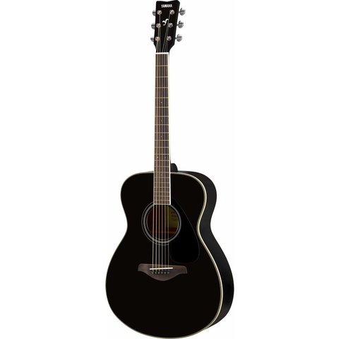 Yamaha FS820 BL Black Small Body Guitar Solid Top Mahogany Back & Sides