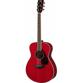 Yamaha Yamaha FS820 RR Ruby Red Small Body Guitar Solid Top Mahogany Back & Sides