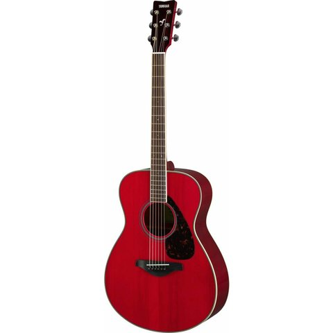 Yamaha FS820 RR Ruby Red Small Body Guitar Solid Top Mahogany Back & Sides