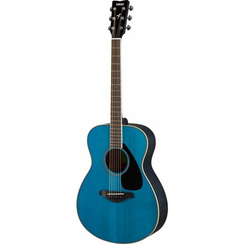 Yamaha FS820 TQ Turquoise Small Body Guitar Solid Top Mahogany Back & Sides