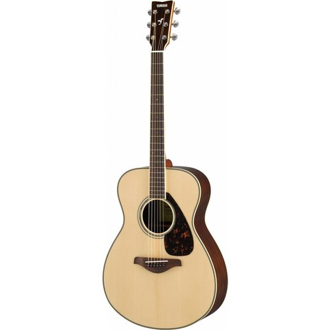 Yamaha FS830 Natural Small Body Guitar Solid Top Rosewood Back & Sides