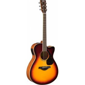Yamaha Yamaha FSX820C BS Brown Sunburst Small Body Acous/Elec Solid Top Mah Back & Side