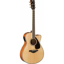 Yamaha Yamaha FSX820C Natural Small Body Acous Elec Solid Top Mahogany Back & Sides
