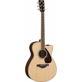 Yamaha Yamaha FSX830C Natural Small Body Acous Elec Solid Top Rosewood Back & Sides