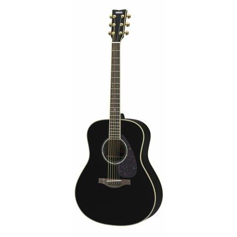 Yamaha LL6RBLHC L Series Rosewood Folk Acoustic, Black w/ Passive Pickup w/ Case