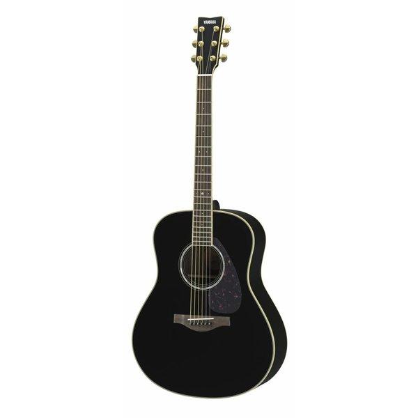 Yamaha Yamaha LL6RBLHC L Series Rosewood Folk Acoustic, Black w/ Passive Pickup w/ Case