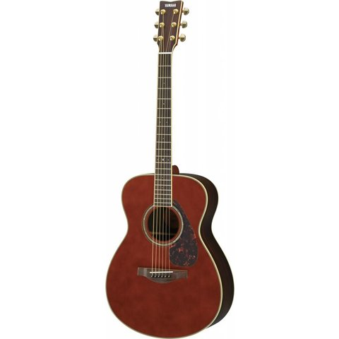 Yamaha LS6RDARKTINTEDHC L Series Rosewood Small Body Acoustic Guitar w/ Passive Pickup w/ Case; Dark Tinted