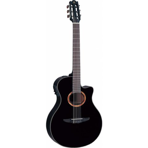 Yamaha NTX700BL NTX Acoustic-Electric Classical Guitar W/ Black Finish