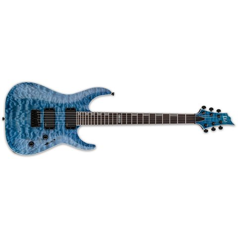 ESP LTD H-401 Electric Guitar Quilted Maple Faded Sky Blue