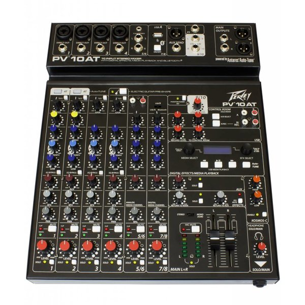 Peavey Peavey PV 10 AT Analog Mixer w/ Antares Auto-Tune