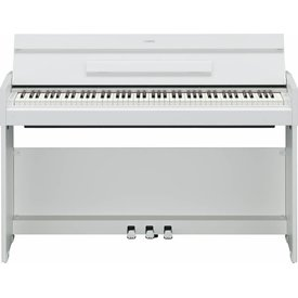Yamaha Yamaha YDPS52WH White Walnut, 88-Note, Weighted Action Console Digital Piano. Black BB1 Bench Sold Separately