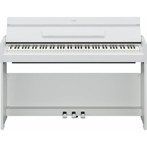 Yamaha YDPS52WH White Walnut, 88-Note, Weighted Action Console Digital Piano. Black BB1 Bench Sold Separately