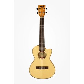Kala Kala Thinline KA-SSTU-SMT-C Tenor Cutaway Travel Ukulele w/Bag Spalted Maple