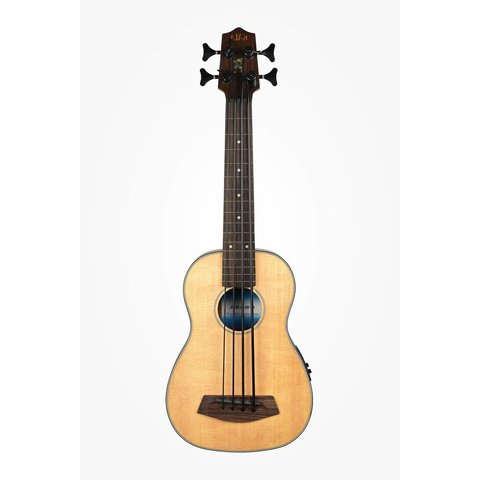 Kala Solid Top Acoustic/Electric UBASS-SSMHG-FL/LH U-Bass Fretless W/Bag Left Handed, Satin/Solid Spruce Top/Mahogany
