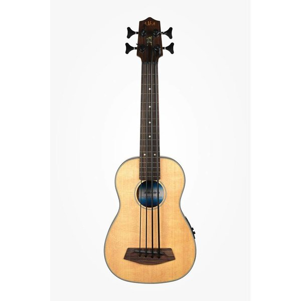 Kala Kala Solid Top Acoustic/Electric UBASS-SSMHG-FL/LH U-Bass Fretless W/Bag Left Handed, Satin/Solid Spruce Top/Mahogany