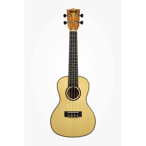 Kala Solid Spruce Top KA-FMTG Tenor Ukulele, Gloss/Solid Spruce/Flame Maple