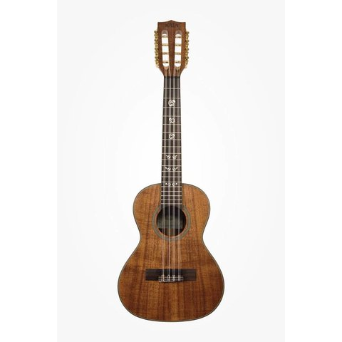 Kala Solid Acacia KA-ASAC-T8 Tenor 8-String Ukulele, Satin/All Solid Acacia
