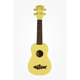 Makala Makala MK-SS/YLW Shark Bridge Soprano Ukulele, Coral Yellow Satin Vintage Finish