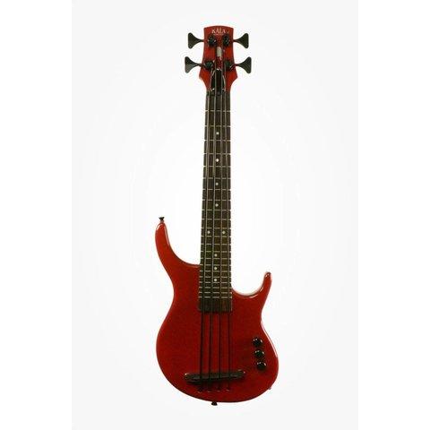 Kala Solid Body UBASS-SUB4FS-SRD U-Bass 4-String, Fretted, Gloss Red w Bag