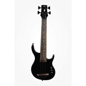 Kala Kala Solid Body UBASS-SUB4FS-SBK U-Bass, Solid Body, 4-String, Fretted, Gloss Black With Bag