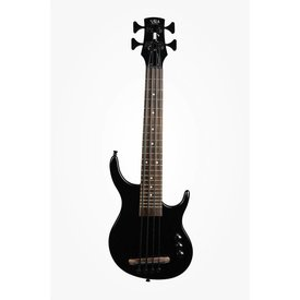 Kala Kala UBASS-SUB4FS-SBK U-Bass, Solid Body, 4-String, Fretted, Gloss Black w Bag