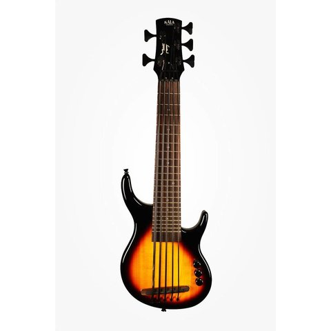 Kala Solid Body UBASS-SUB5FS-BRST U-Bass, 5 String, Fretted Gloss Sunburst w Bag