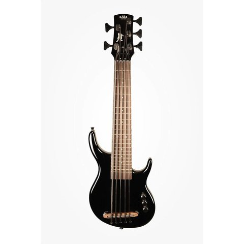 Kala UBASS-SUB5FS-SBK U-Bass, Solid Body, 5-String, Fretted, Gloss Black w Bag