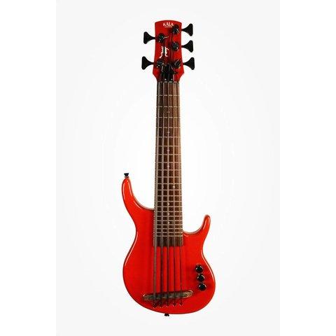 Kala Solid Body UBASS-SUB5FS-SRD U-Bass 5-String, Fretted, Gloss Red w Bag