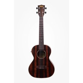 Kala Kala Ebony Series KA-EBY-TE Tenor Ukulele w/EQ, Satin/Striped Ebony