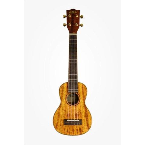 Kala Hawaiian Koa Gloss KA-KSLNG Soprano Long Neck Ukulele, Gloss/Koa/Koa