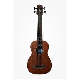 Kala Kala All Solid Acoustic/Electric UBASS-SMHG-FS U-Bass Fretted W/Case, Satin/All Solid Mahogany