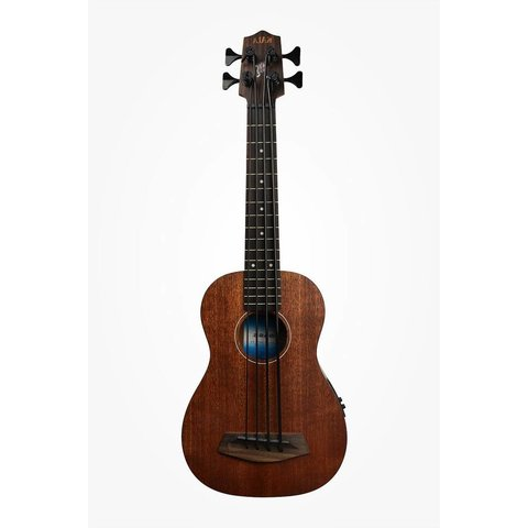 Kala All Solid Acoustic/Electric UBASS-SMHG-FS/LH U-Bass Fretted W/Case Left Handed, Satin/All Solid Mahogany